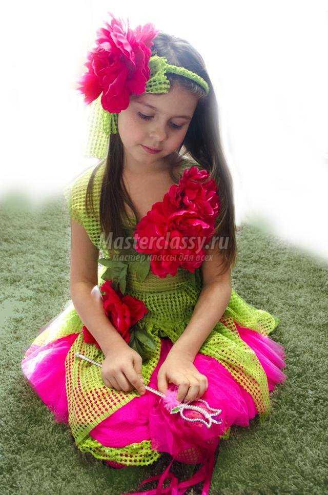 детские костюмы своими руками. Принцесса цветов Пион