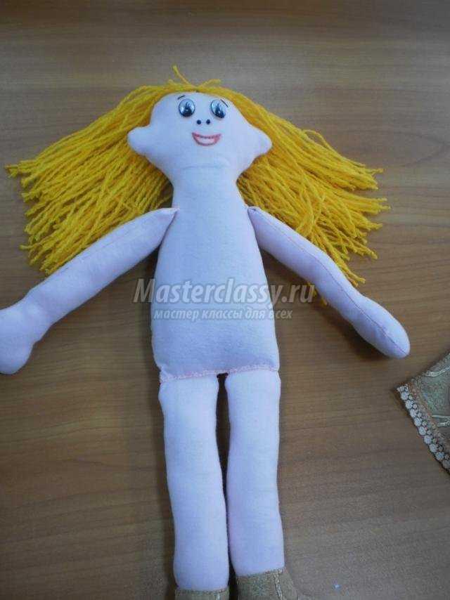 мягкая кукла из ткани своими руками