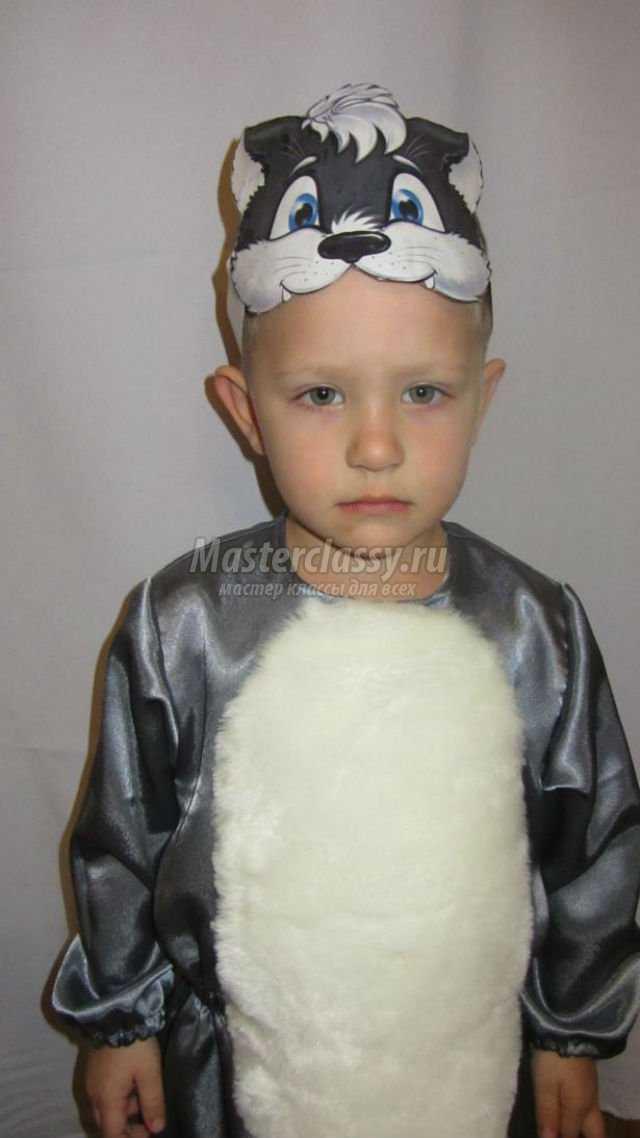 Новогодний костюм волка для мальчика своими руками