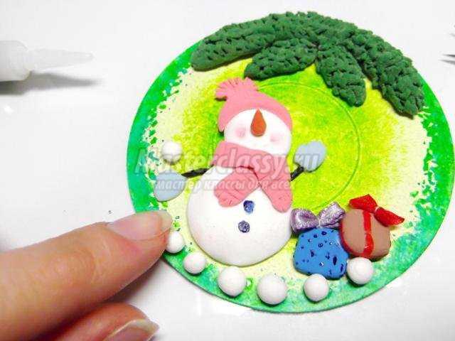 елочная игрушка из полимерной глины. Новый год