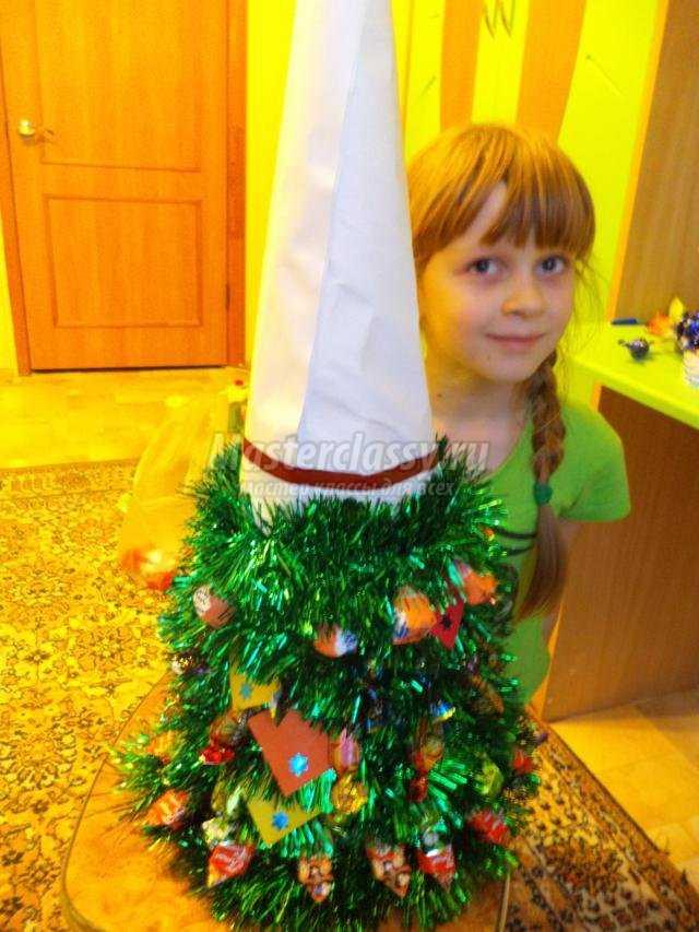 новогодняя елочка из конфет с сюрпризами