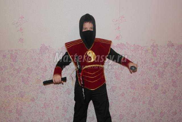 детский костюм Ниндзя своими руками