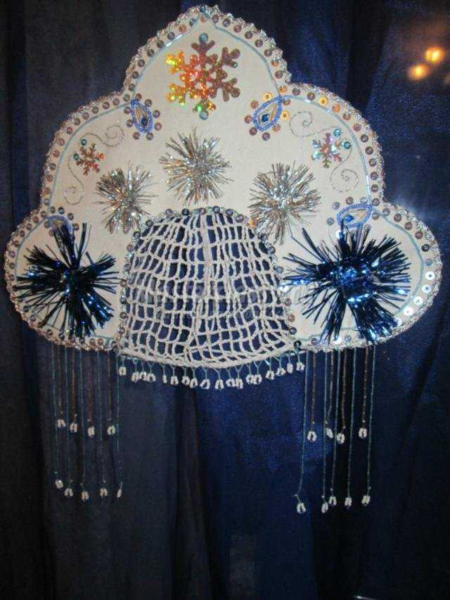 Кокошник для снегурочки своими руками фото 810