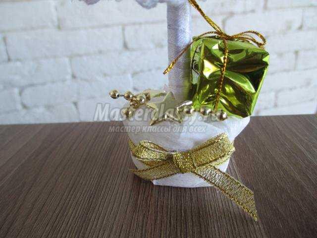 новогодняя ёлка из белого кружева своими руками