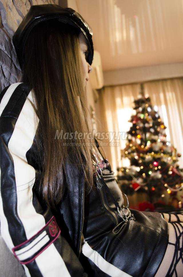новогодний костюм для девочки. Рокер