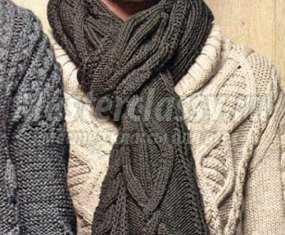 Новогодний шарф схема