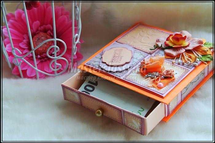 Коробочка для денег красная своими руками
