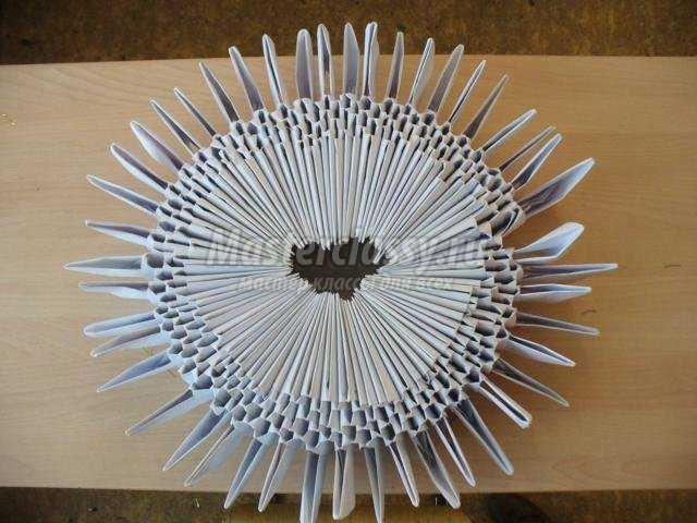 модульное оригами. Столик «Снежинка