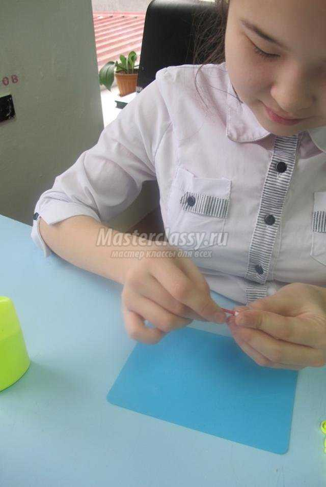 часы в технике квиллинг и оригами