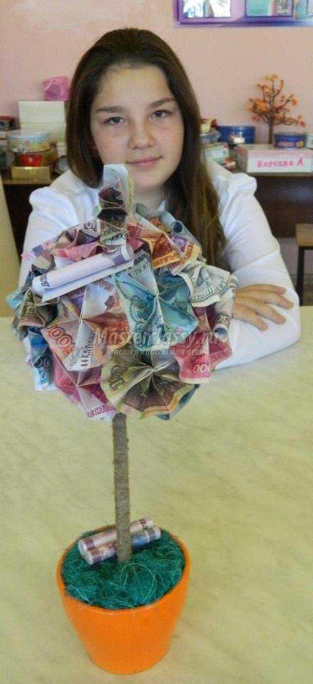 денежный топиарий своими руками
