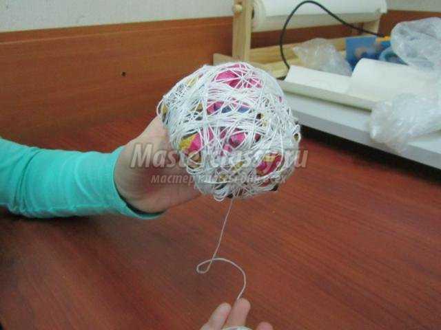 шар из ниток в стиле Винтаж
