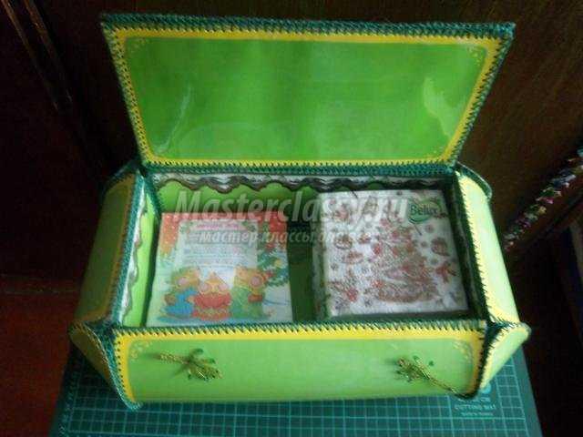 малахитовая шкатулка из картона