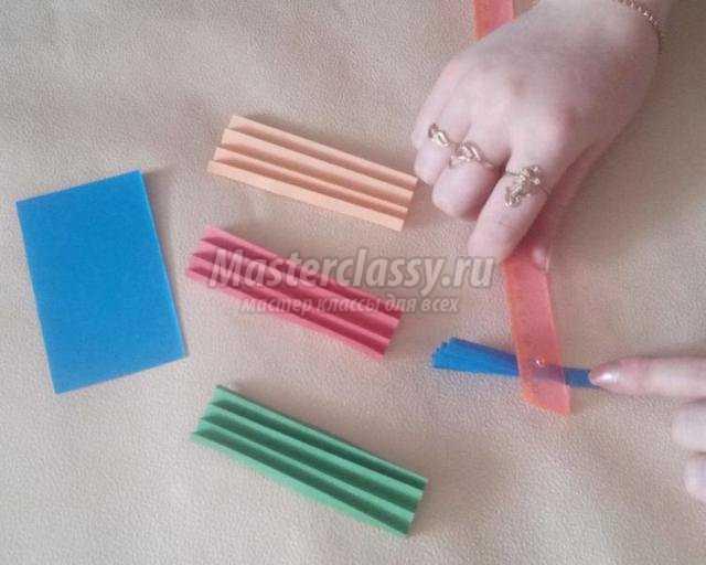 гирлянда из бумажных полос своими руками