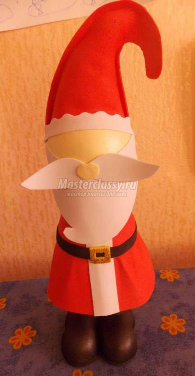 объемная 3D кукла из фоамирана. Пузатый Санта