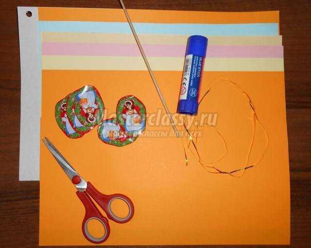 новогодний фонарик из бумаги и картона