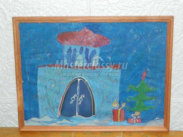 картина холодный батик. Дворец Деда Мороза