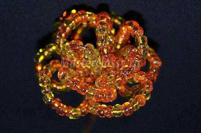 золотое денежное дерево из бисера