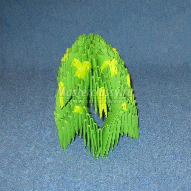 модульное оригами. Креативная елочка