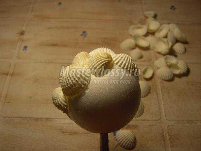 топиарий из ракушек своими руками