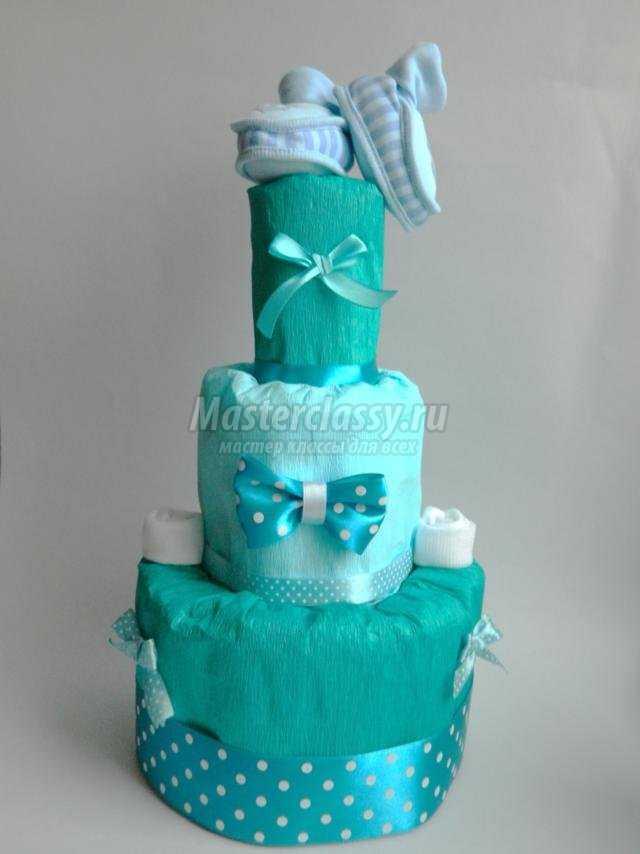 Мастер класс торт из памперсов 81