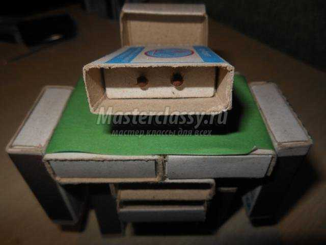 робот из спичечных коробков на 23 февраля