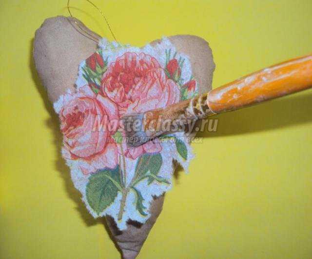 валентинка-саше своими руками ко Дню Святого Валентина
