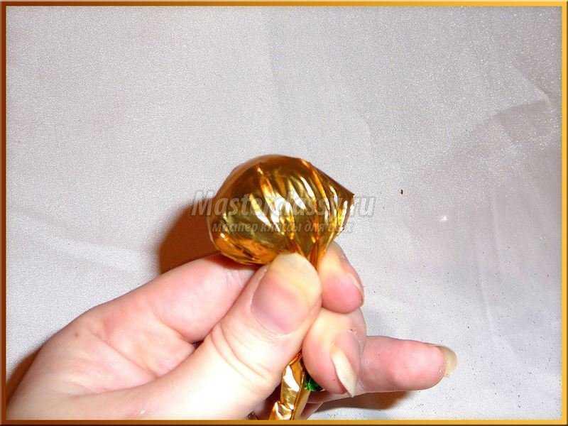 корабль из конфет фото