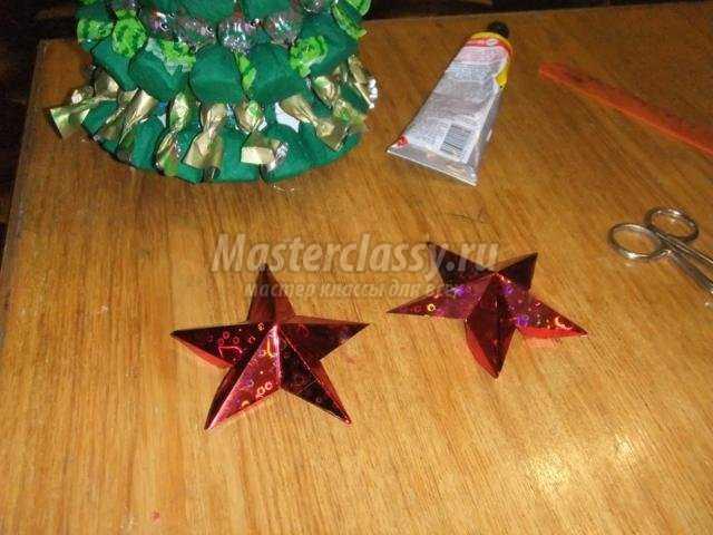 новогодняя ёлочка из конфет своими руками