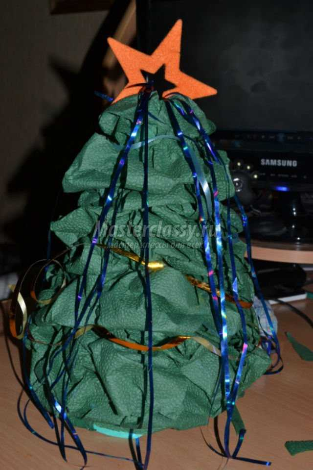 елка из салфеток