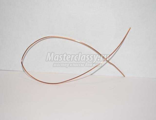 кулон в технике Wire wrap. Агат в меди