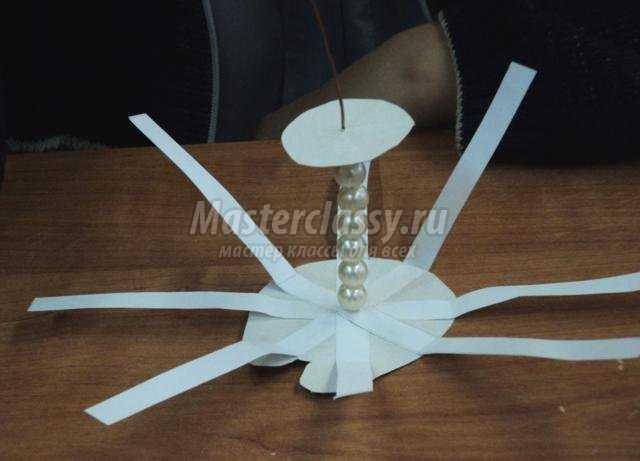 объемный снеговик из бумаги своими руками
