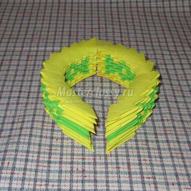 модульное оригами композиция. С 8 Марта