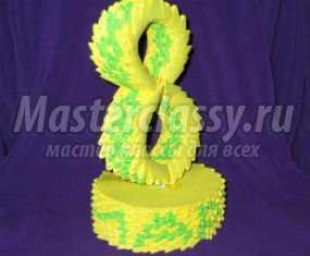 Модульное оригами. Композиция «С 8 Марта!». Мастер-класс с пошаговыми фото