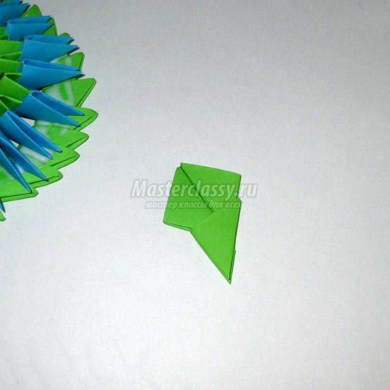 МК оригами бочонок