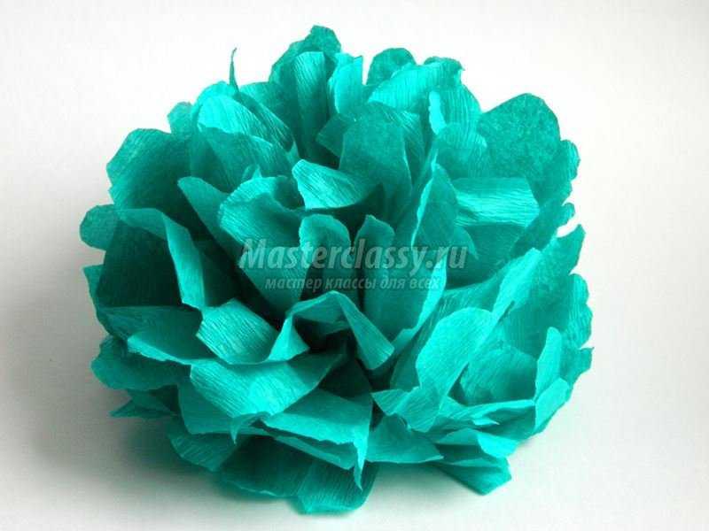 Цветок (помпон) из гофрированной бумаги