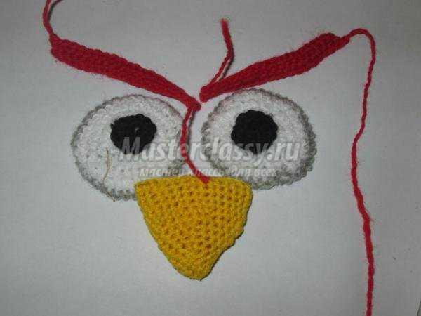 вязаная крючком шапочка. Angry Birds