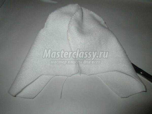 вязаная шапка-ушанка крючком на 8-12 месяцев
