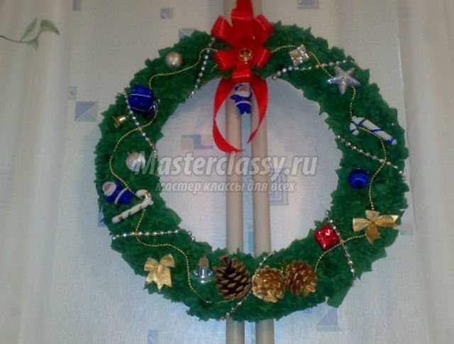 Рождественский венок  пошаговое фото 51