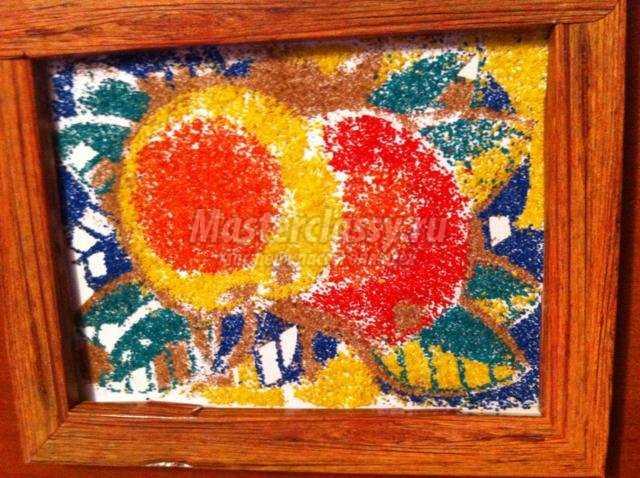 картина из цветного песка своими руками