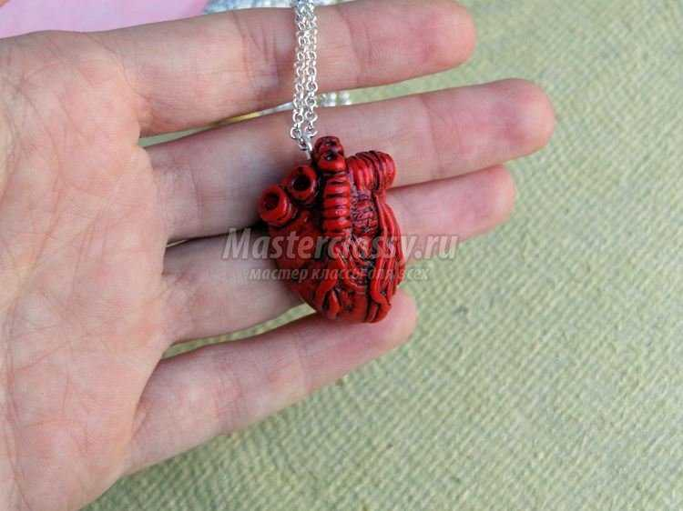 сердце из полимерной глины