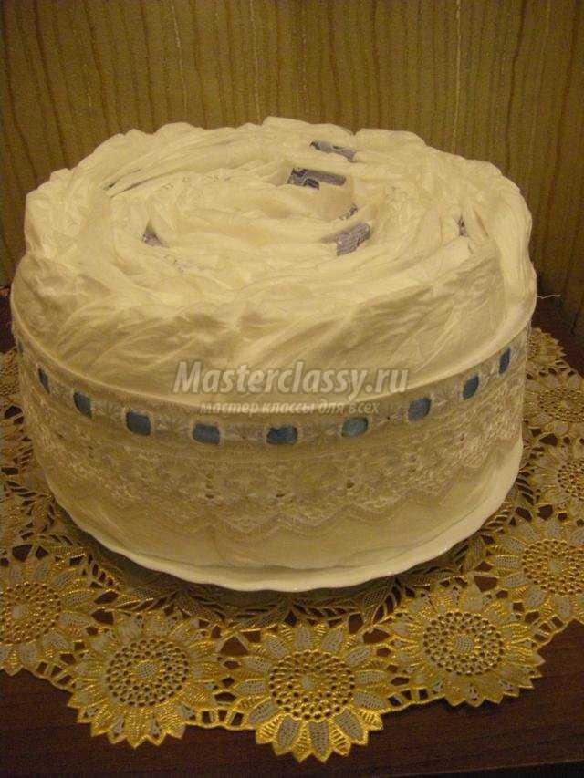 торт из подгузников своими руками