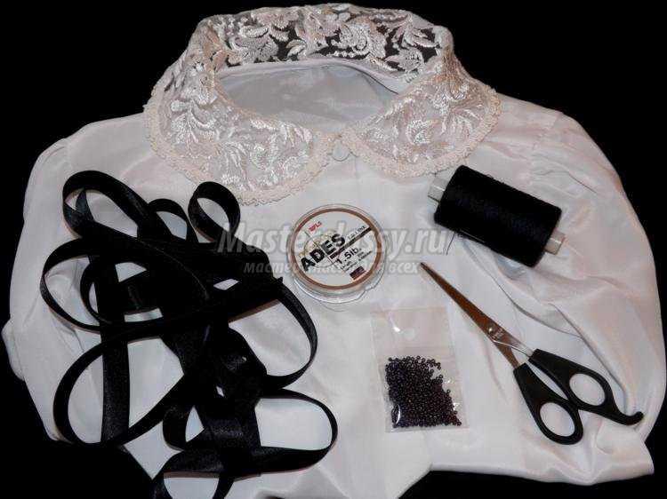 модный съемный воротничок из старой блузы
