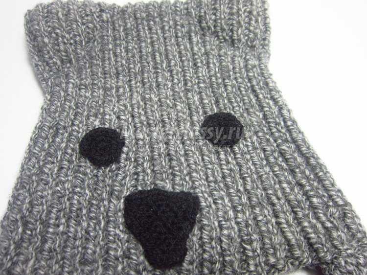 шапка волк вязание