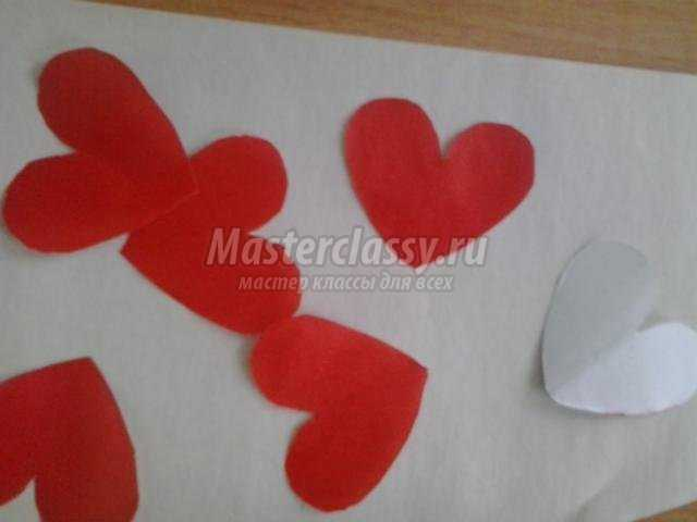букет из сердец ко Дню Святого Валентина