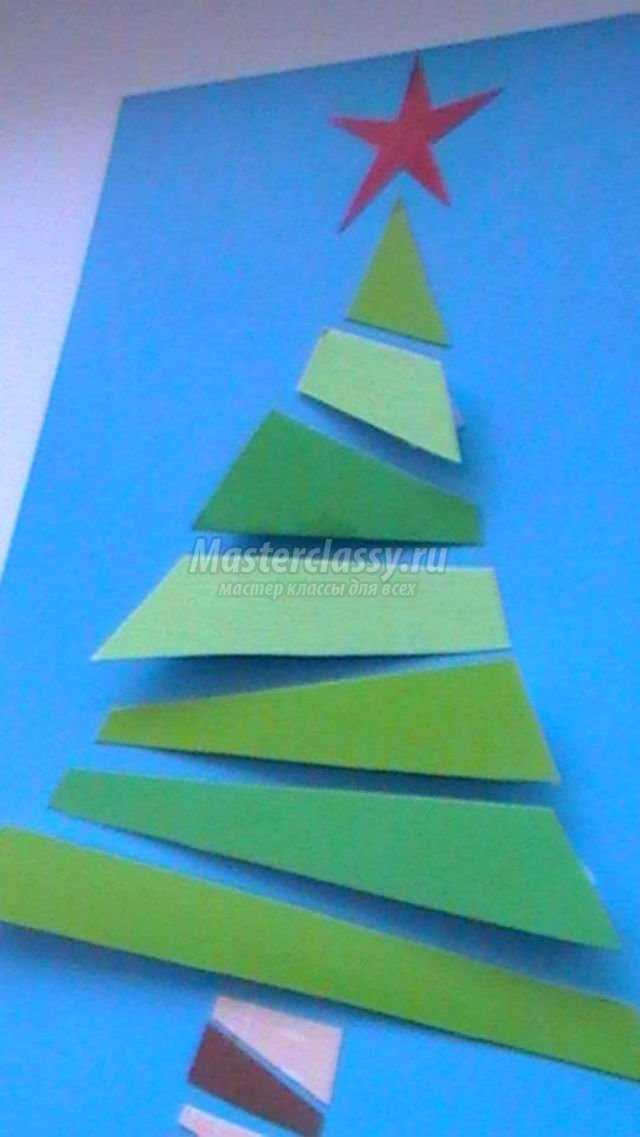 объемная открытка из бумаги. Новогодняя модница