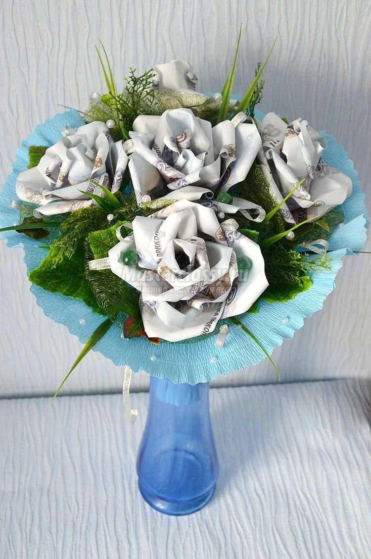 Цветы из купюр своими руками мастер класс фото 439