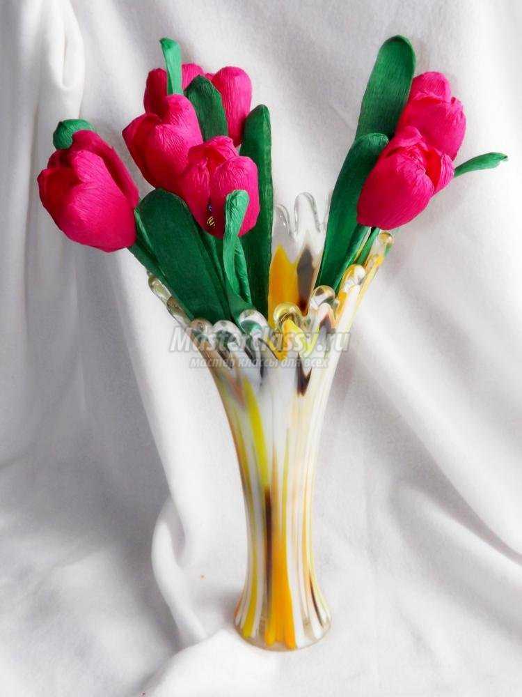 подарок маме своими руками на 8 Марта. Букет тюльпанов с конфетами