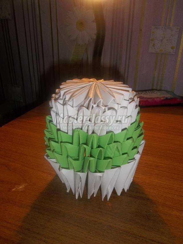 модульное оригами. Снеговик и заяц