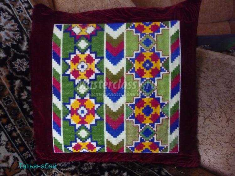 Вышивка крестом подушки мастер