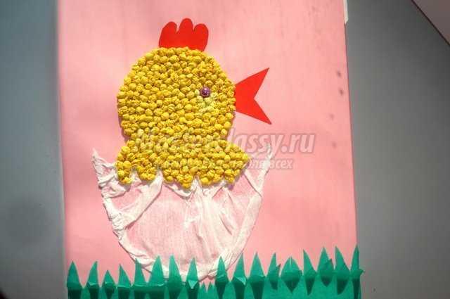аппликация «Цыпленок»